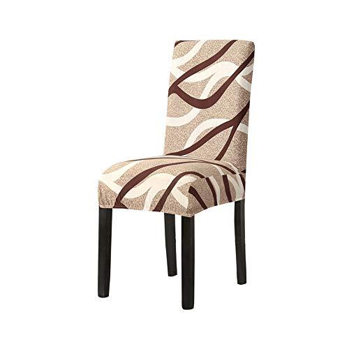 BAQIU 4-teiliger Schonbezug für Esszimmerstühle, Abnehmbarer, waschbarer Stuhlschutzbezug mit hoher Dehnung, großartige Wohnkultur und Bankettpolsterung