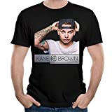 MJCoulombe Man Kane Brown Short Sleeve Top T Shirt Boy Music Band T-Shirts Black Small