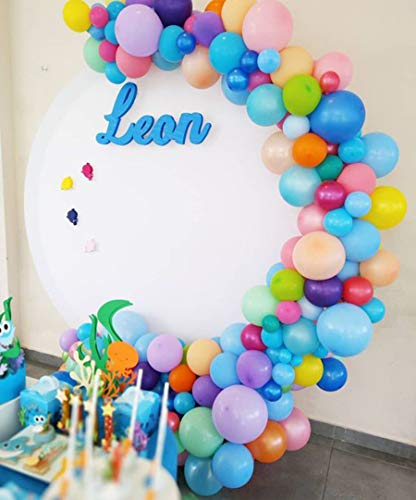100Pcs Balloon Garland & Arch Kit-100pcs Latex Balloons, 16 Feets Arch Balloon Decoration Strip for Shark Party Baby Shower Birthday Party Backdrop