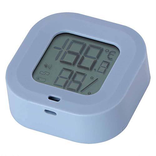 Labuda Termómetro Higrómetro, Interruptor multilingüe -20 ℃ a 65 Monitor Monitor de Temperatura y Humedad, para Bodega casera Garaje Refrigerador Cámara fría(Blue)