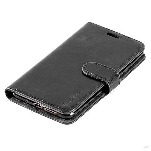 Mulbess Handyhülle für Huawei Mate 10 Hülle, Leder Flip Case Schutzhülle für Huawei Mate 10 Tasche, Schwarz - 5
