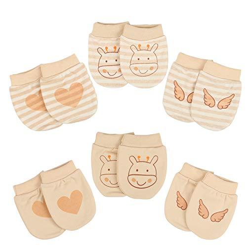 KATOOM Neugeboren Fäustlinge Baby Kratzhandschuhe Anti Scratch Handschuhe kleinkind Kratzfäustlinge Säugling Kratzfäustel für Jungen Mädchen 4-12 Monate