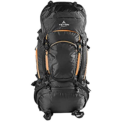 TETON SPORTS Mountain Adventurer 4000 Backpack; Lightweight Hiking Backpack for Camping, Hunting, Travel, and Outdoor Sports; Included Poncho Covers You and Your Pack from Rain or Use it as a Shelter from Teton Sports