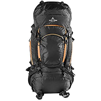 TETON Sports Grand 5500 Ultralight Plus Backpack  Lightweight Hiking Backpack for Camping Hunting Travel and Outdoor Sports  Black 34  x 15  x 17