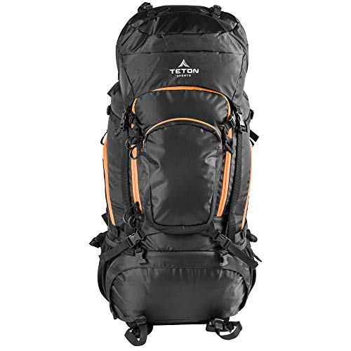 TETON Sports Grand 5500 Ultralight Plus Backpack; Lightweight Hiking Backpack for Camping, Hunting, Travel, and Outdoor Sports , Black, 34