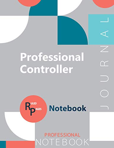 "Professional Controller Journal, Certification Exam Preparation Notebook, examination study writing notebook, Office writing notebook, 154 pages, 8.5"" x 11"", Glossy cover"