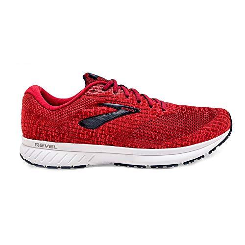 Brooks Mens Revel 3 Running Shoe - Red/Biking Red/Peacoat - D - 7.5