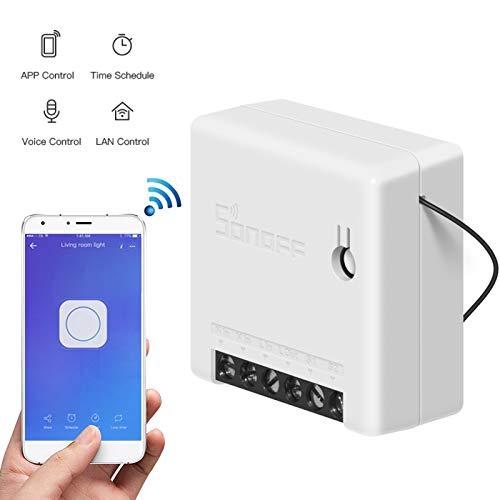 Sonoff Mini DIY Smart Switch, intelligente 2-weg-schakelaar, zonder wifi-functie, afstandsbediening voor huishoudelijke apparaten, lamp, wifi-schakelaar, Alexa Echo en Google Assistant