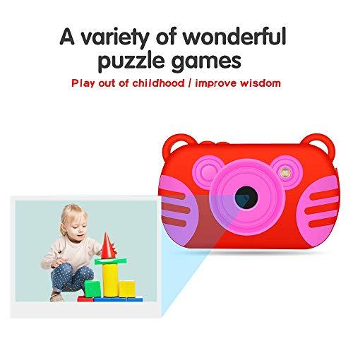 CamKing Digitale Kinderkamera, Digital Videokamera für Kinder mit 8MP FHD 1080P, Mini Digitale Kamera weicher Silikonhülle und 1,4 Zoll HD-Bildschirm