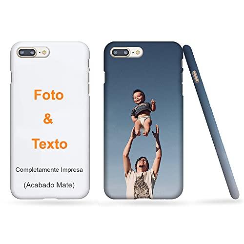 MXCUSTOM Funda Personalizada para iPhone 8 Plus / 7 Plus, Completamente Impresa Mate, Carcasa Personalizado Delgada teléfono móvil con Foto Imagen Texto Diseña (FWS-MT-P1)