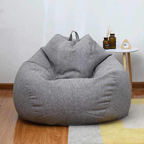 GXQDL-01 Puff Frijol Presidente Bolsa Sofá Infantil Lazy Tumbona Respaldo Alto de Gran Bolso de Haba de Almacenamiento Saco Silla for niños (Color : Dark Gray, Size : 60 * 70cm)