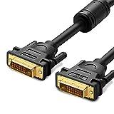 UGREEN DVI ケーブル DVI-D 24+1 ディスプレイケーブル 2560x1600@60HZ高解像度 フェライト内蔵 金メッキコネクタ搭載 ディスプレイ、プロジェクター、TV等に適用(2m)