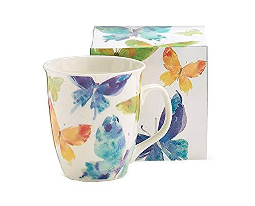 Watercolor Butterflies Porcelain Mug