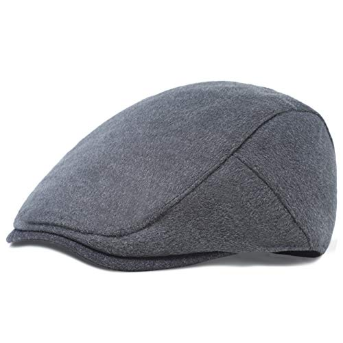 ArtiDeco Barett Cap Herren Gatsby Schirmmütze Newsboy Flat Cap Baskenmütze (Dunkelgrau, Large/Etikettgröße- 59)