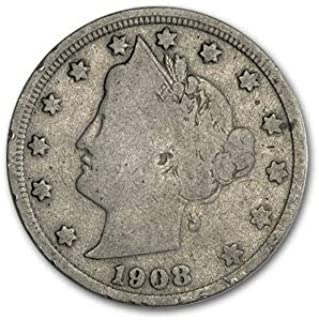 1908 Liberty Head V Nickel Good+ Nickel Good