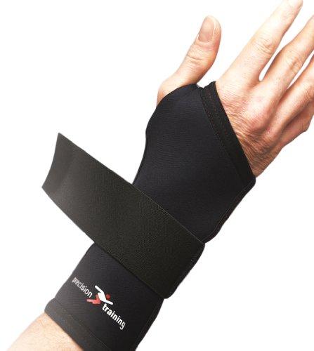 Precision Training Neoprene Wrist Support - Black/Red, Small