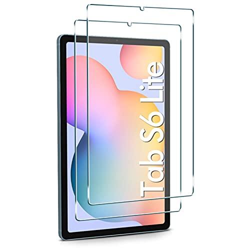 Watana Protector de pantalla de cristal templado para Samsung Galaxy Tab S6 Lite (SM-P610/SM-P615), 10,4 pulgadas, compatible con S Pen, [2 unidades] [sin burbujas] [fácil instalación]