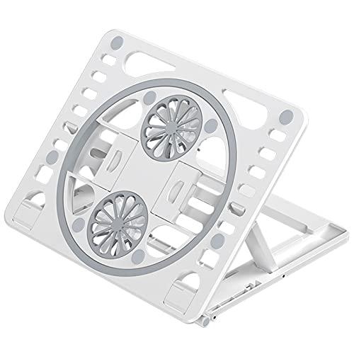 Base de Refrigeración para Portátil + Potente Refrigerador Portátil con 2 Ventiladores para Ordenador Gaming + 6 Ventiladores silenciosos,White