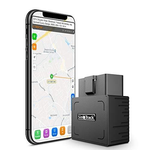 SinoTrack Rastreador GPS para vehículos, Localizador de Dispositivos de rastreo GPS OBD en Tiempo Real para automóviles, Mini rastreador de vehículos OBD II para automóviles, Taxis y Camiones