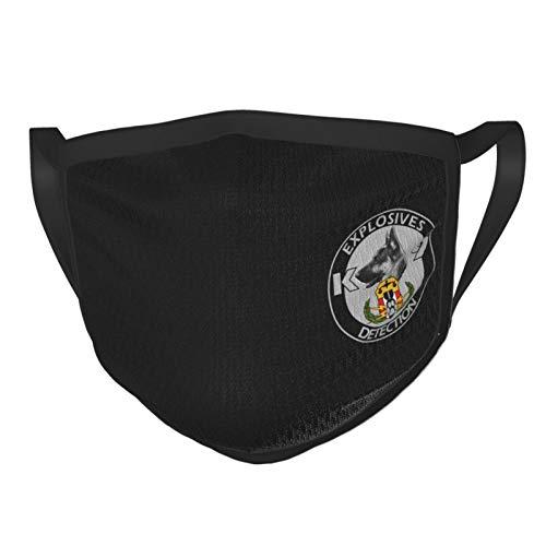 Explosives Detection K9 Mens Woman's Face Masks Reusable Wind Mask Dust Masks 1 Pcs Black