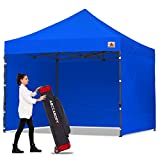 ABCCANOPY Classic Ez Pop up Canopy Tent with Sidewalls 10x15 Market and Patio-Series, Royal Blue