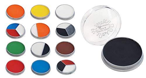 ILOVEFANCYDRESS Peinture à l'eau pour le visage blanche, noire et rouge. Ideal pour tous les événements.