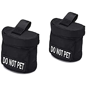 Service Dog Vest Harness Saddle Bag BackPack Pouch with Patches – Service Dog, Emotional Support, Service Dog In Training, Do Not Pet, In Training, Back Pack – Quality Saddlebag for Service Dogs Vests