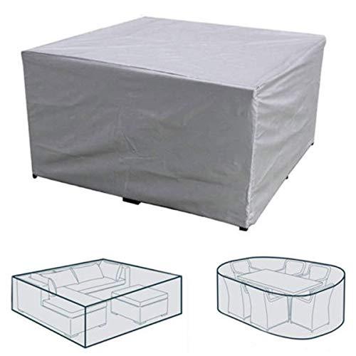 dDanke - Funda protectora para muebles de jardín (240 x 240 x 85 cm), color gris