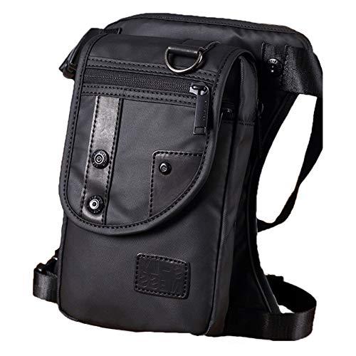 ROKFSCL Sac de jambe, pochette de cuisse, sac de taille pour homme, sac à bandoulière, sac à bandoulière, bandoulière, bandoulière, ceinture de hanches, fanny pour vélo, randonnée, escalade, Noir