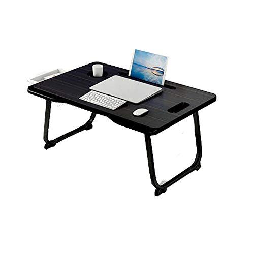 MJAHQ Mesa Auxiliar Plegable Table Mate Escritorio para portátil Plegable, pequeño, Ligero, Resistente al Agua, 50 kg-Negro