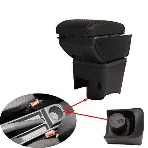 szss-car piel coche centro consola apoyabrazos caja Apoyabrazos Caja de almacenamiento