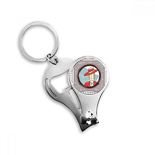 Rode Kleding Spaanse Illustratie Metalen Sleutelhanger Ring Multi-functie Nagel Clippers Fles Opener Auto Sleutelhanger Beste Bedel Gift