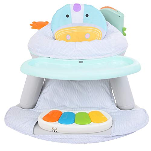 New OKBOP Baby Sit-up Floor Seat with Pedal Piano, 2 in 1 Infant Activity Seat Play Game with Dinner...