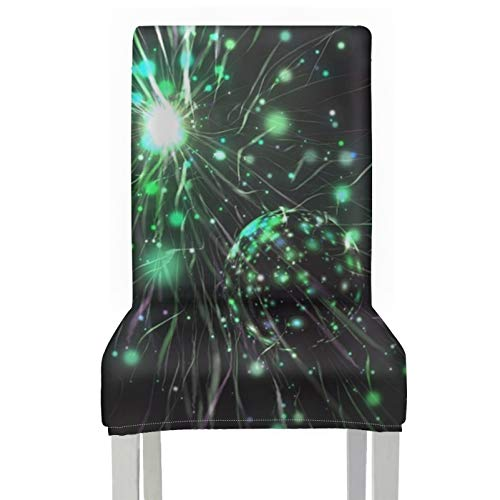 Dining Room Chairs Seat Covers Explosion Sparks Magic Flare Particle Glittering Slipcover For Dining Chair Seat Polyester Stretch Removable Washable Seat Covers Dining Room Chairs For Home Kitchen Pa