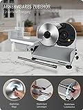 Brotschneidemaschine Elektrisch 200W, 2 rostfreies Edelstahlmesser, Leicht zu reinigen, Elektrische Allesschneider mit 0-15 mm einstellbarer Dicke, Anescra - 3