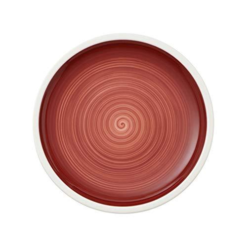 Villeroy & Boch Manufacture Rouge, handbemaltes vaisselle en rouge, grande qualité 27 cm Assiette, Porcelaine, Blanc, 27 x 27 x 2 cm