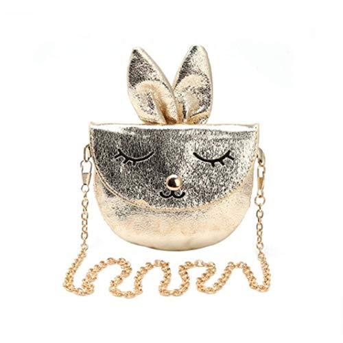 Ogquaton 2 Farben Cartoon Cute Bunny Rabbit Handtaschen Metallkette Umhängetasche Geldbörsen Brieftaschen Travel Party Bag für Kinder Kleinkinder und Kinder im Vorschulalter Robust und kostengünstig