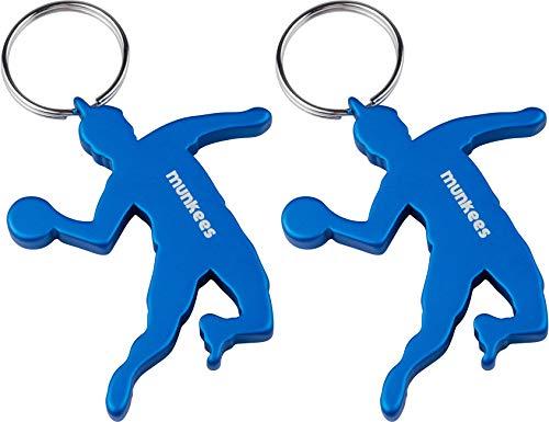 munkees Porte-clés en Forme de handballeur avec décapsuleur, 2 x Bleu
