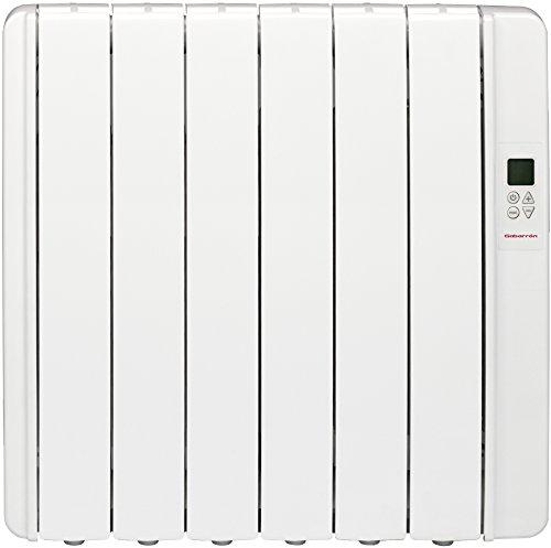 Gabarrón RKS6HI Emisor de inercia térmica, sin fluido, digital, 750 W, Blanco RAL9010