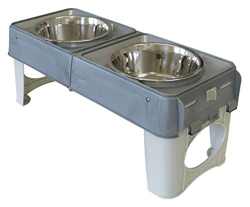 PETGARD Faltbare Reise-Futterstation 2 x 1500 ml Fressnapf Futternapf Hundebar Hundenapf