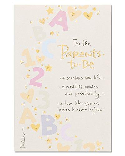 American Greetings Glückwunschkarte zum Neugeborenen Parents to Be New Baby Congratulations Card