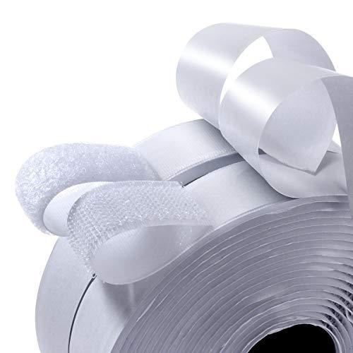 2 Packungen 4,3 m Länge 2,2 cm Breite strapazierfähiges Klettband Rolle – doppelseitig klebend – starkes, selbstklebendes Trägerband (5,3 Yard)