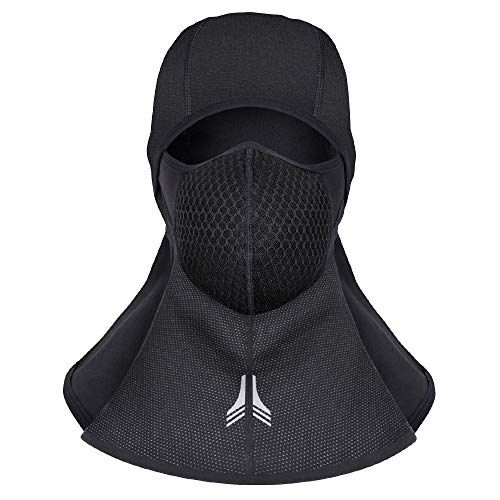 Winter Full Face Mask Elastic Cycling Headdress Water Repellent Warn Fleece Head Cover Skating Skiing Motorcycling Hiking Full Face Hat Dust-Proof Carbon Filter Gauze (Style-2) -  Lixada