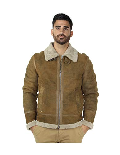 Oakwood 46976 - Chaqueta de piel de lana, color marrón