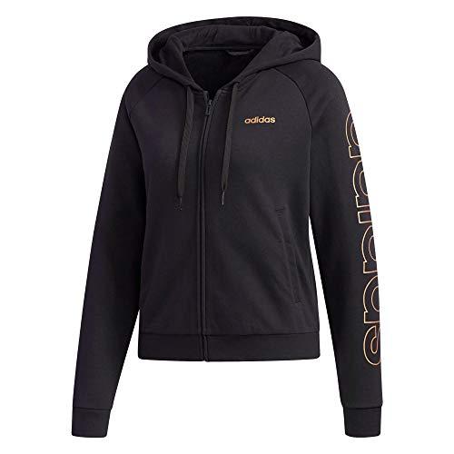 adidas W E Brand HD TT Felpa, Donna, Black/Copper Met., S