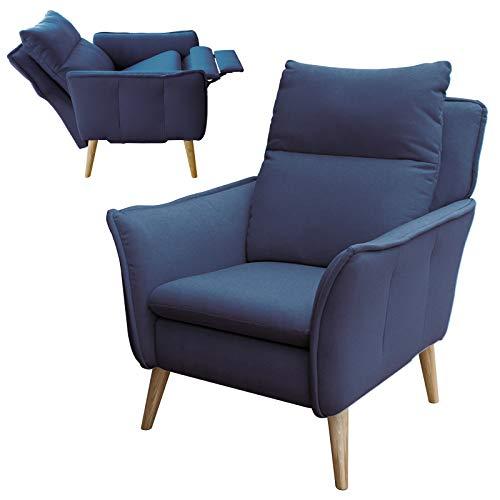 place to be Hochwertiger Skandinavischer Relaxsessel Insideout Schlaffunktion Blau + 16 weitere Farben + Eiche + Buche