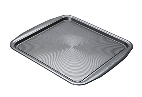 Circulon DE507 - Momentum - Square Baking Tray - Non Stick - PFAO Free - Dishwasher Safe - Carbon Steel - 34 x 37 x 1.5 cm, Grey
