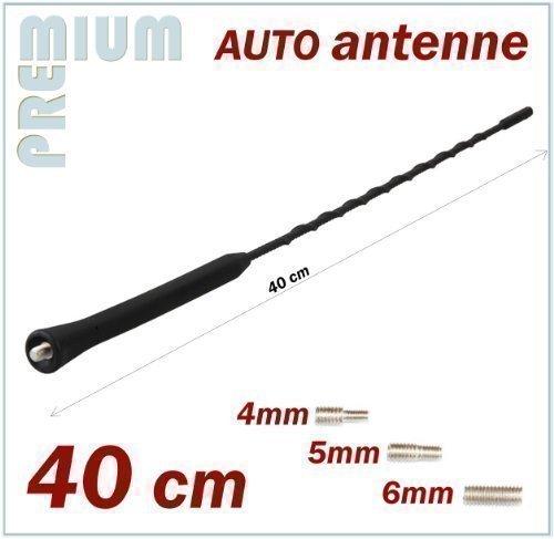 INION KFZ Antennenstab Universal 40cm Kurz Stab Auto Antenne mit M4 M5 M6 Gewinde Radio UKW/FM - Dachantenne