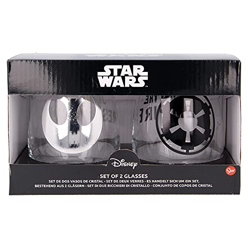 Set 2 Vasos DE Cristal 510 ML Star Wars