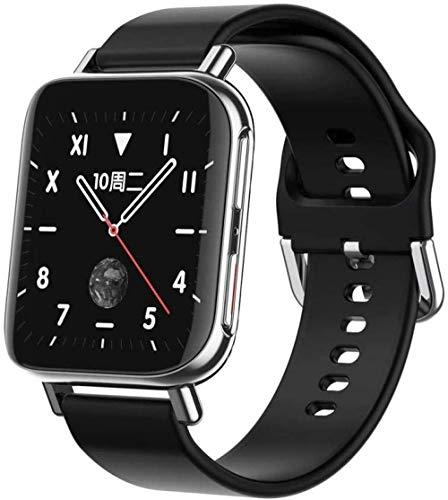 ZHENAO Smart Watch, 1.54 inch Color Screen Smart Bracelet, Waterproof Sports Sleep Monitoring Fitness Tracker, Men s and Women s Watches-Rose Gold Steel Belt Daily wear/Silver mac